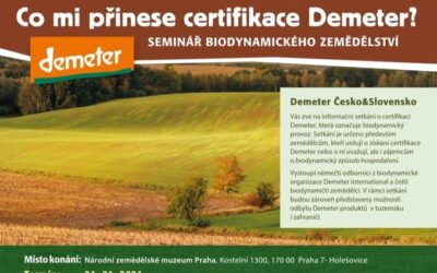 Co mi přinese certifikace Demeter? | 21.1.2020